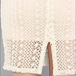 c7f6e86fb722 Free People Skirts - Free People Ivory Crochet Lace Overlay skirt